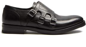 Alexander McQueen Monk-strap leather derby shoes