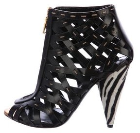 Tom Ford Leather Caged Ankle Boots
