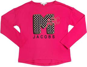 Little Marc Jacobs Logo Printed Cotton Jersey T-Shirt