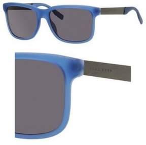 HUGO BOSS M-SG-1876 Boss 0553-S E74Y1-Transparent Blue Mens Sunglasses, 55-17-140 mm