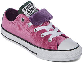 Converse Chuck Taylor All Star Double Tongue Velvet Girls Sneakers - Little Kids/Big Kids