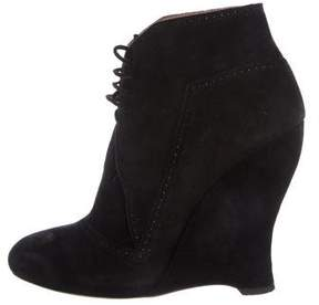 Alaia Suede Wedge Booties