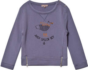 Emile et Ida Purple Ahoy Sailor Boy Sweater