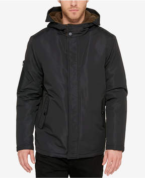 Kenneth Cole Men's Zip-Front Parka With Fleece-Lined Hood