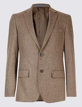 Marks and Spencer Pure Lambswool Wool Herringbone Jacket
