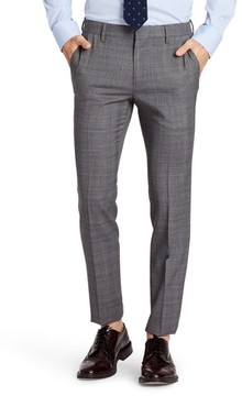 Bonobos Men's Jetsetter Flat Front Plaid Stretch Wool Trousers