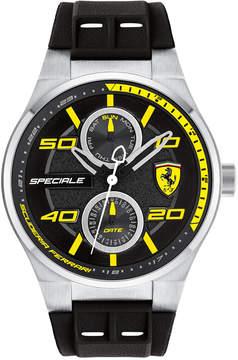 Ferrari Men's Speciale Black Silicone Strap Watch 44mm 0830355