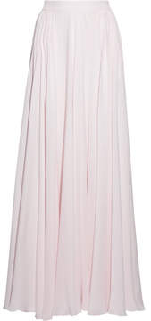 Elie Saab Fluted Silk-georgette Maxi Skirt - Off-white
