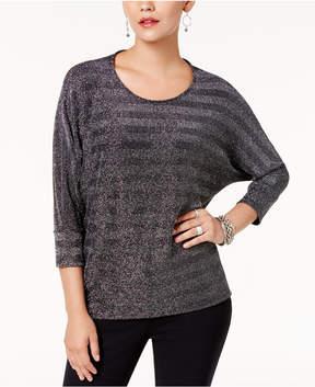 Alfani Metallic Dolman-Sleeve Top, Created for Macy's