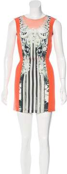 Emma Cook Mixed Print Silk Dress