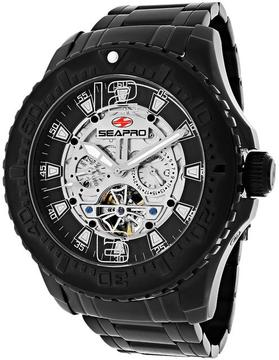 Seapro SP3312 Men's Tidal PX1 Black Stainless Steel Watch