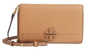 Tory Burch Women's Mcgraw Leather Crossbody Wallet - Beige - BEIGE - STYLE