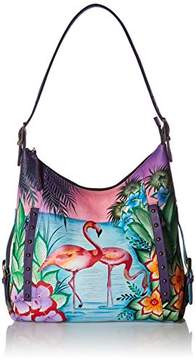 Anuschka Anna by Hand Painted Leather Women's Shoulder HOBO