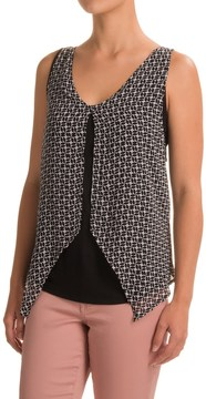 August Silk Georgette Overlay Tank Top (For Women)