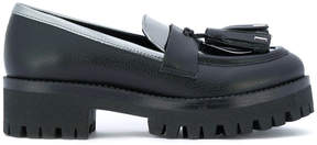 Pollini tassel applique loafers