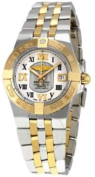 Breitling Galactic 30 Sierra Silver Dial Steel and 18kt Gold Ladies Watch
