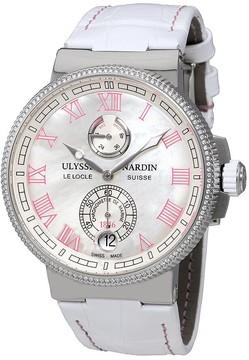 Ulysse Nardin Marine Chronometer Mother of Pearl Dial Ladies Watch