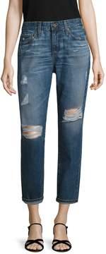 AG Adriano Goldschmied Women's Beau Distressed Ankle Jean