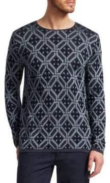 Giorgio Armani Tile Crewneck Sweater