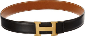Hermes Black Constance Rteversible Leather Belt (Size 75)