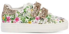 MonnaLisa Jungle Book Faux Leather Strap Sneakers
