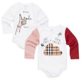 Burberry Baby's Two-Piece London Cotton Bodysuit Set