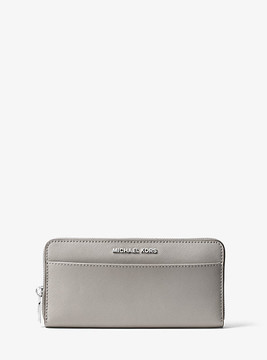 Michael Kors Jet Set Saffiano Leather Continental Wallet - GREY - STYLE