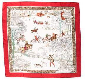 Hermes Chiver Silk Scarf