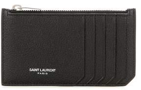 Saint Laurent Classic Paris leather card holder - BLACK - STYLE
