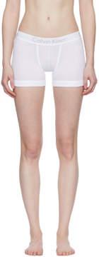 Calvin Klein Underwear White Cotton Boy Shorts
