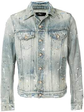 Amiri paint splattered denim jacket
