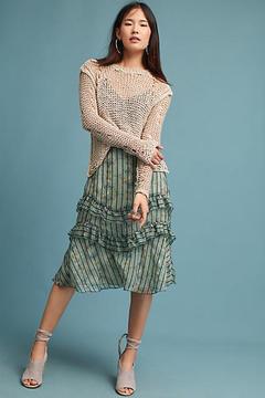 Eva Franco Ruffled Burnout Skirt