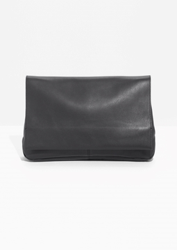 Flap Leather Clutch