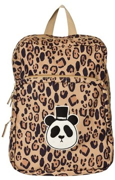 Mini Rodini Beige Panda Backpack