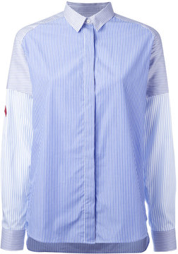 Each X Other concealed fastening striped shirt