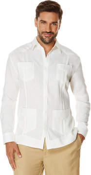 Cubavera Big & Tall 100% Linen Long Sleeve 4 Pocket Guayabera