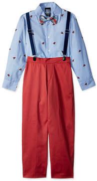 Izod Bubble Gum Lobster Twill Suspender Pants Set - Toddler & Boys