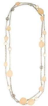 Isaac Mizrahi Faux Pearl, Resin & Crystal Necklace