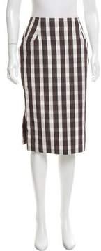 Brock Collection Woven Gingham Skirt