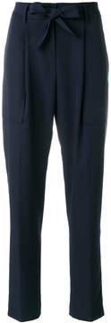 Blumarine tie waist straight-leg trousers