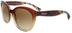 Polo Ralph Lauren Women's 0RA5211 Cateye Sunglasses, Brown Gradient, 53 mm