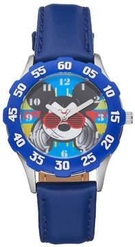 Disney Disney's Mickey Mouse DJ Boys' Leather Watch