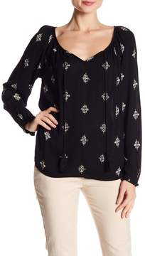 Velvet by Graham & Spencer Beaded Printed Top