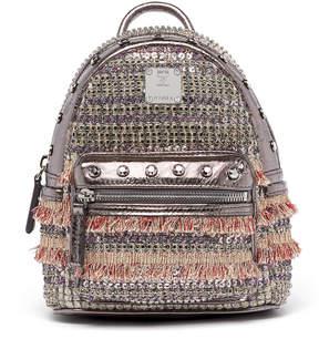 MCM Stark Backpack In Crystal Tweed