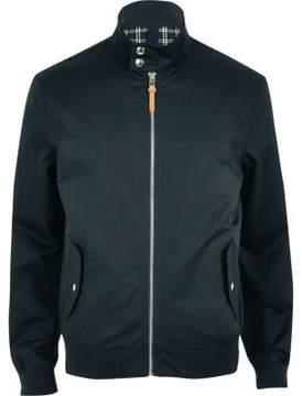 River Island Mens Navy funnel neck harrington jacket