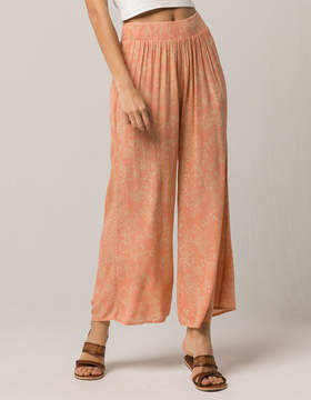 Amuse Society Coasting Along Pink Womens Wide Leg Pants