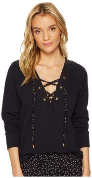 Bishop + Young Teri Lace-Up Top Women's Clothing