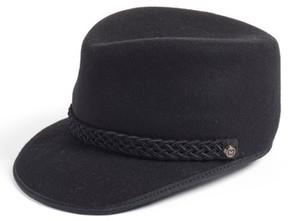 Eric Javits Women's Clia Wool Felt Cadet Cap - Black