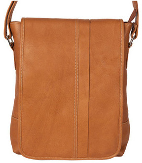 David King Leather 8109 Deluxe Square Messenger