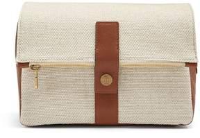 Brunello Cucinelli Leather-trimmed canvas washbag